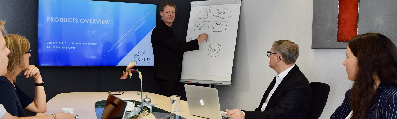 Sirius IT Solutions ist Ihr Dienstleister für IT-Management und Organisation, Optimierung der IT-Prozesse, IT-Strategie sowie Business Analyse, Konzeption und Realisierung